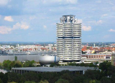 Ukázka novodobé architektury v Mnichově